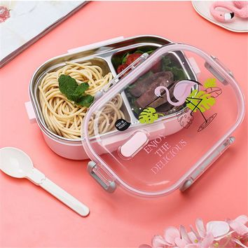 Stainless Steel  Lunch Box With Compartments Tableware