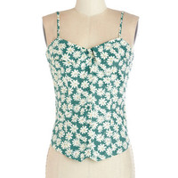 ModCloth Vintage Inspired Mid-length Spaghetti Straps The Prettiest Pick Top