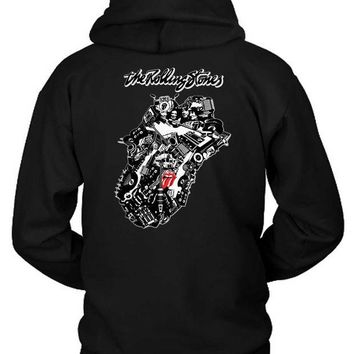 DCCKL83 The Rolling Stones Twenty Eight Logo Hoodie Two Sided