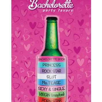 Bachelorette Party Favors Beer Rings - Asst. Colors And Sayings