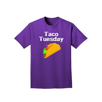 Taco Tuesday Design Adult Dark T-Shirt by TooLoud