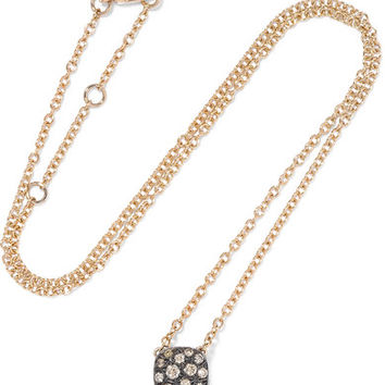 Pomellato - Nudo 18-karat rose and white gold diamond necklace