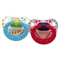 NUK 2pk Size 18-36m Orthodontic Pacifier with Silicone Nipple - Tie Dye