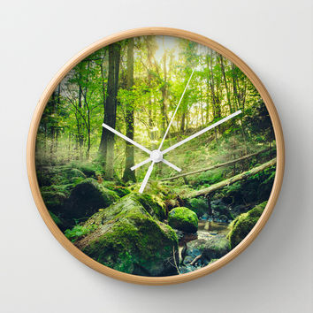 Down the dark ravine II Wall Clock by HappyMelvin
