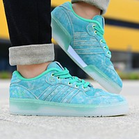 ADIDAS new couple crystal blue low-top casual sneakers