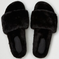 AEO Fur Slipper , Black