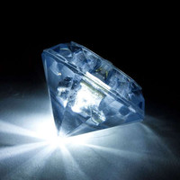Diamond LED Submersible light for centerpieces, wedding decor, or any item that you want to illuminate.