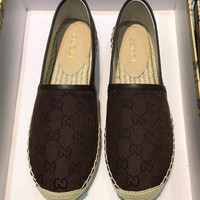shosouvenir  GUCCI Retro canvas fishermen's shoes