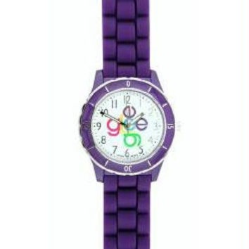 Glee Logo Watch Crisscross Logo with Purple Band