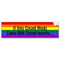 Closed Minds Gay Pride Rainbow