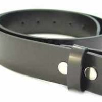 BELTMASTERS� MENS/WOMENS BLACK LEATHER BELT FOR BUCKLES L LARGE (38-40)