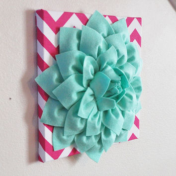 Mint and Hot Pink Wall Hanging