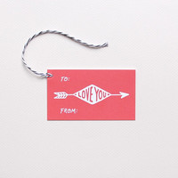 Cupid's Arrow Gift Tags
