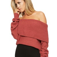 Naked Wardrobe Givin' Knit The Cold Shoulder Sweater - Sweaters - Womens