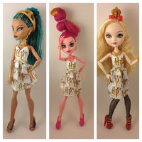 Harry Potter - Monster High Nefera Ever After High Handmade Doll Dress One Of A Kind