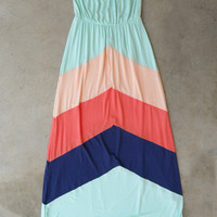 Apex Colorblock Maxi [5400] - $42.00 : Vintage Inspired Clothing & Affordable Dresses, deloom | Modern. Vintage. Crafted.