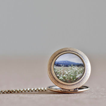 Queen Annes Lace Locket, Wearable Art, Jewelry, Photography, Nature Photography, Landscape, Flowers, Locket