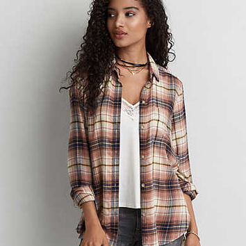 AEO Ahhhmazingly Soft Boyfriend Shirt , Blush