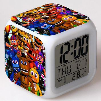 Gmaes Anime Figure  at  LED Alarm Clock Flashing Colorful Touch Lights  Figma Freddy Toys for Children