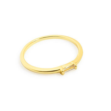 Gold Crystal Stackable Ring