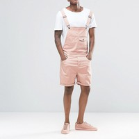 ASOS Slim Short Overalls in Pink
