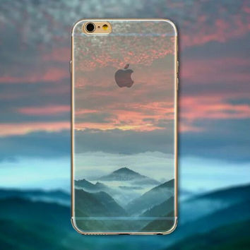Red Sky Tourism Scenery iPhone 5 5S iPhone 6 6S Plus creative case + Nice Gift Box -125
