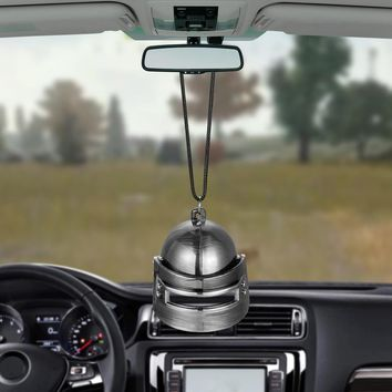 Car Pendant 3D Helmet For Game Playerunknowns Battlegrounds PUBG Level 3 Automobile Rearview Mirror Decor Hanging Ornament Gifts