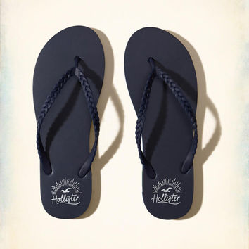 Girls Braided Rubber Flip Flop | Girls Shoes & Accessories | HollisterCo.com