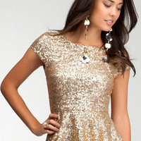 Sequin Peplum Top - WEB EXCLUSIVE
