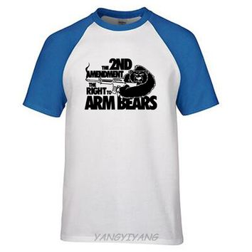 The Amendment The Right to Arm Bears T-Shirts - Men's Crew Neck Novelty Top Tee