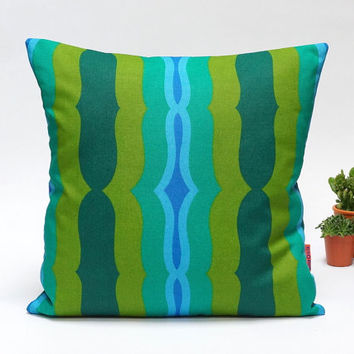 """Mid Century Modern Retro pillow cover - 40x40 / 16x16"""" - Handmade with Love from Vintage Fabrics"""