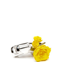 Chris Habana x Prabal Gurung Yellow Armor Statement Ring by Prabal Gurung - Moda Operandi