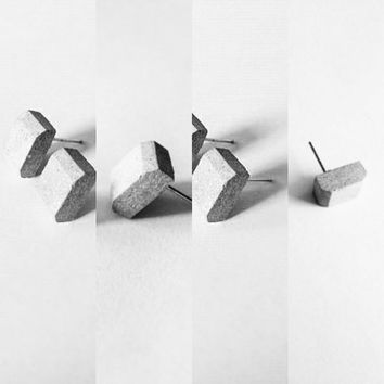 Concrete earrings/high quality stainless steel
