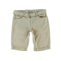 Indigo Rein Womens Juniors Twill Cuffed Bermuda Shorts