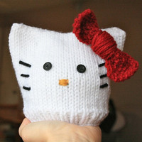 Hello Kitty Baby Hat - 0-3 Months