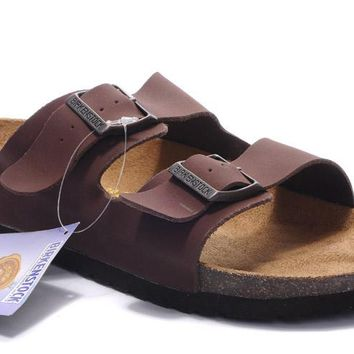 Birkenstock Arizona Sandals Suede Brown - Ready Stock