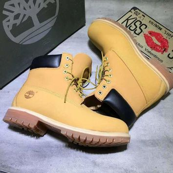 CREYUIB Timberland classic Color Yellow Men Women Sneakers Boots