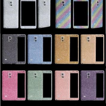 Bling Glitter Sticker Case For Samsung Galaxy S7/6 Edge S5/4/3 Note5/4/3 A5 A7 J5 J7 Full Body Decal Skin Sticker Phone Cover