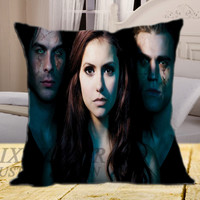 The Vampire Diaries on square pillow cover 16inch 18inch 20inch