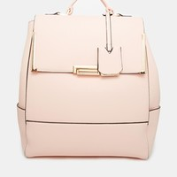 New Look Flip Lock Backpack at asos.com