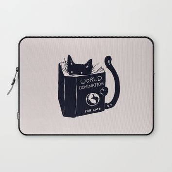 World Domination For Cats Laptop Sleeve by Tobe Fonseca