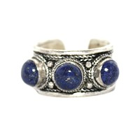 Adjustable Ring Lapis ring Boho Ring Gypsy Ring