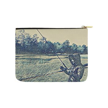 Levi Thang Fishing Design 5 Carry-All Pouch 8''x 6''