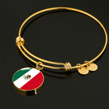 Mexican Pride - 18k Gold Finished Bangle Bracelet