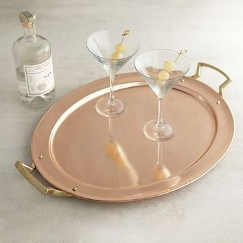 Copper Finish Tray