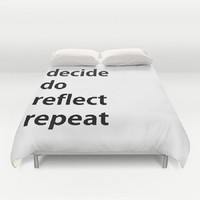 Quote Duvet Cover Motivational Quote Duvet Cover Statement Duvet Cover Black White Duvet Cover Contemporary Art Duvet Cover Typography Duvet