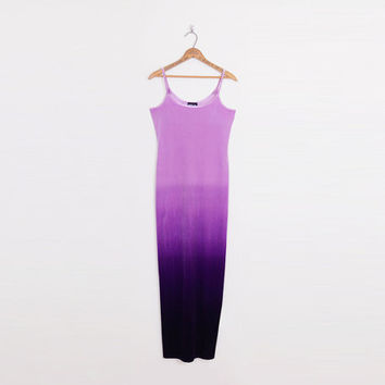 Purple Ombre Dress Tie-Dye Dress Purple Velvet Dress Purple Dress Velvet Maxi Dress 90s Dress 90s Grunge Dress 90s Club Kid Dress S Small