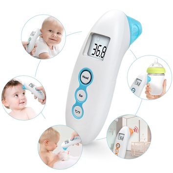 Baby Thermometer Forehead Ear Baby Adults Fever Alarm Measurement LCD Screen Non-Contact Infrared Digital Termometer