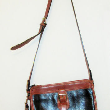 Vintage Leather Liz Claiborne Crossbody Bag
