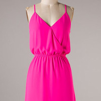 French Twist Dress - Pink - Hazel & Olive